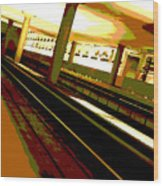 Virginia Square Metro I Wood Print