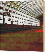 Virginia Square Metro II Wood Print
