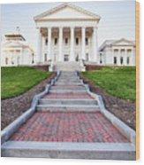Virginia State Capitol Building Wood Print