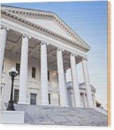 Virginia State Capitol Wood Print