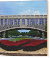 Virginia Tech - Torgersen Bridge Wood Print