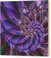 Virginias Violet Wood Print