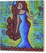 Virgo Y Flor Wood Print