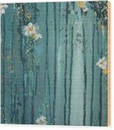 Viridian Bloom Wood Print
