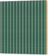 Viridian Green Striped Pattern Design Wood Print