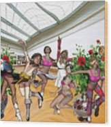 Virtual Exhibition - Dance Of Opening The Exhibition Wood Print