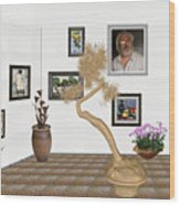 Virtual Exhibition - Statue Of Bonsai 1 Wood Print