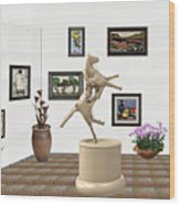 Virtual Exhibition_statue Of A Horse Wood Print