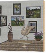 virtual exhibition_Statue of swan 23 Wood Print