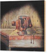 Vise Wood Print by Bob Hallmark