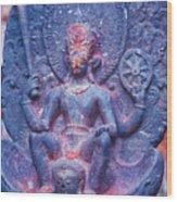 Vishnu Astride Garuda Wood Print