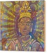 Vishnu Krishna Face Wood Print