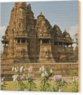 Vishvanatha Temple In Khajuraho  Wood Print