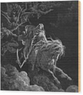 Vision Of Death Wood Print by Granger