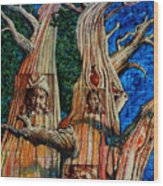 Vision Of The Ancient Pine Wood Print