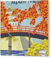 Visit Japan Wood Print