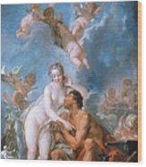 Visit Of Venus To Vulcan Wood Print
