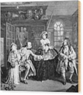 Visit To The Quack Doctor, 1745 Wood Print