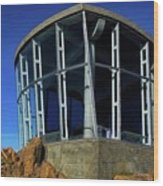 Visitor Center Atop Mt. Wellington Wood Print