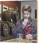 Visitor Samples Single Malt Whisky Wood Print
