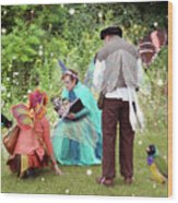 Visitors At A Fairy Blessing Wood Print