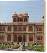 Visitors Wander Around Gardens Of Mohatta Palace Museum Karachi Sindh Pakistan Wood Print