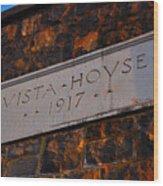 Vista House Wood Print