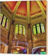Vista Interior One Wood Print