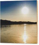 Vistula River Sunset 2 Wood Print by Tomasz Dziubinski