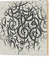 Visual Noise Wood Print