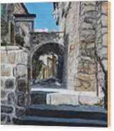 Viterbo Archway Wood Print