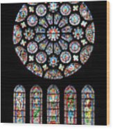 Vitraux - Cathedrale De Chartres - France Wood Print