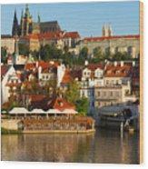Vitus Cathedral Over Vltava  Wood Print