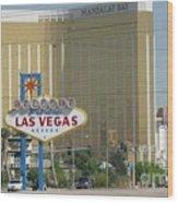 Viva Las Vegas Wood Print