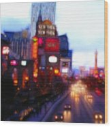 Viva Las Vegas Painting Wood Print