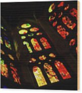 Vivacious Stained Glass Windows Wood Print