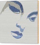 Vivian Blue Wood Print