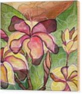 Vivian's Plumeria Wood Print