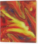 Vivid Abstract Vibrant Sensation IIi Wood Print