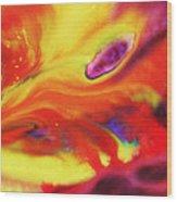 Vivid Abstract Vibrant Sensation Iv Wood Print