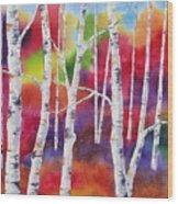 Vivid Autumn Wood Print
