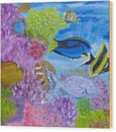 Corals Calling  Wood Print