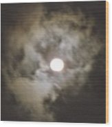 Vivid Full Moon Wood Print