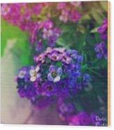 Vivid Purple Wood Print