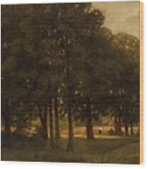 Vladimir Donatovich Orlovsky  Russian 1842  1914 Summer Landscape Wood Print