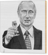 Vladimir Putin Wood Print