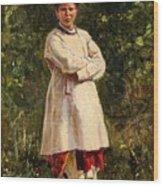 Vladimir Yegorovich Makovsky Russian 1846  1920   Ukrainian Girl, 1898 Wood Print