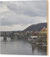 Vltava River Scene Wood Print
