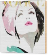 Vogue 3 Wood Print