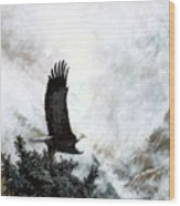 Voice Of The Eagle Reaches Toward The Heavens Wood Print